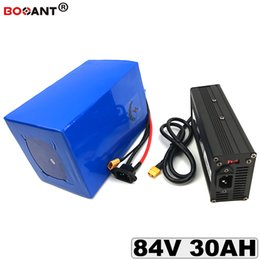 Motor Bicycles Australia - 84V 30AH Electric Bicycle Lithium ion Battery for 3000W Motor 23S 84V Rechargeable E-Bike Battery pack +5A charger Free Shipping