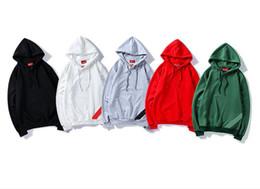 Discount t shirts for men winter - 2018 hot sale mens designer t shirts SU-REME mens hoodies fashion men's tops Autumn winter Hoodie jackets coats for
