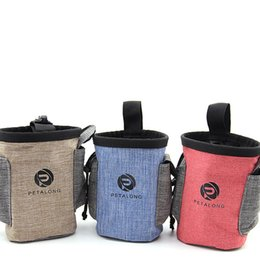 Plastic storage Pockets online shopping - Pets Outdoors Grain Bag Dogs Puppy Multi Function Training Pocket Portable Waterproof Snack Bags Pet Supplies Dog Accessories zk gg