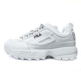 low priced b0260 72014 2018 Date Original chaussures de course blanc noir sable gris or Fila II 2  femmes hommes