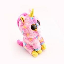beanie boos big eyes Ty Beanie Boos Big Eyes 10 - 15cm Pink Unicorn Stuffed    Plush Animals Toys Dolls 6db060a94b24