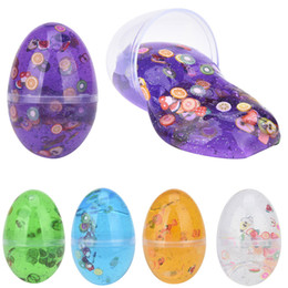 $enCountryForm.capitalKeyWord Australia - Fluffy Crystal Ball Dinosaur Egg Putty Kids Slime Mud Putty With Fruit Slices Play Clay Hand Mud Toy Scented Stress Relief Toy