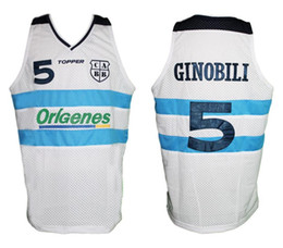 Manu Ginobili  5 Team Argentina Retro Classic Basketball Jersey Mens  Embroidery Stitched Custom any Number and name Jerseys 593945e42