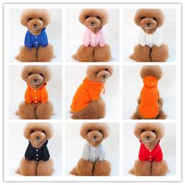 Discount pet fleece jacket - 7 Color warm pet dog costume autumn winter fleece coat dog clothes 6 size cotton apparel fashion jacket dogs supplies fo