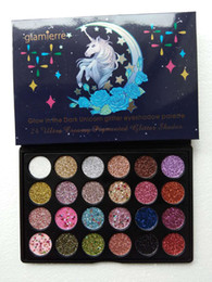 Wholesale 24 Colors Eyeshadow Palettes Unicorn Shimmer Eye Contour Palette High Quality Makeup Long lasting Cosmetics