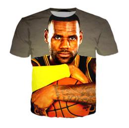 728835009d2d Hot sale Men Women T-shirts star Lebron James 3D Print fashion T Shirt 2017 summer  style casual Tee Shirts J03