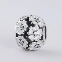 Pandora cherry charm australia new featured pandora cherry charm s925 sterling silver jewelry white enamel cherry blossom beads charms fits pandora charms bracelet snake chain sciox Images
