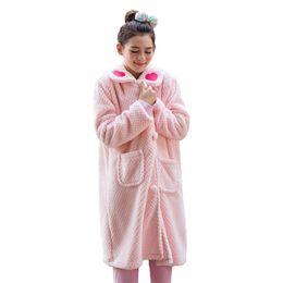 23814e3731 Winter Flannel Robe Women Sleepwear Hand-embroidered Warm Robe Home Bathrobe  Szlafroki Female Camperas Mujer Abrigo Invierno