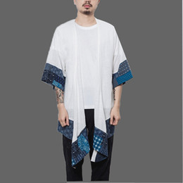 Long Cotton Kimono NZ - Cotton Linen Japanese Kimono Cardigan Men Trench Male Autumn Long Coats Cape Loose Men's Shawl Spring Jacket Mens Overcoats 2018