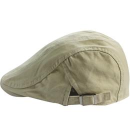 Hombre 100% algodón transpirable Sólido gorra plana Ivy Gatsby Newsboy Caza  de conducción boina gorra 509d77ccbc6