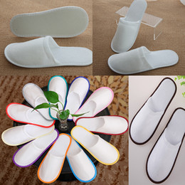 wholesale cheap bath towels NZ - Bath Disposable Slippers Hotel Towelling Slippers EVA Slipper Men Women Flip Flop White Multi color Indoor Cheap Slipper Free DHL WX9-441