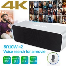 China Android8.1 TV Box 4K 2GB RAM 16GB ROM 2-IN-1 TV Box Speaker Bluetooth 4.1 SCISHION Magic One Soundbar support Voice control android boxes suppliers