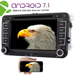 Vw Stereos Android Canada - Eincar Autoradio Double 2Din Car Stereo 7''Car DVD Player HeadUnit Android 7.1 OS Octa Core 2GB+32GB Car Radio For VW GPS Navigation