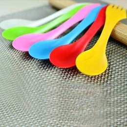 Gadgets Utensils Australia - Wholesale-2015 New 6Pcs Spoon Fork Knife Cutlery Camping Hiking Spork Combo Travel Utensils Gadget
