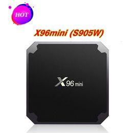 M8s Android Tv Boxes Australia - Hot TX3 X96 Mini TV Box Amlogic S905W Quad Core 1 2GB 8 16GB Android 7.1 Smart Media Player Support IPTV 2.4G Wifi Better MXQ Pro M8S Plus W