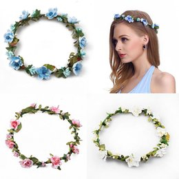 Orange Hair Accessories Australia - head wreath 2018 crown women Flower Hair accessories girl fashion Wreath Floral Headwear Bridesmaid headband