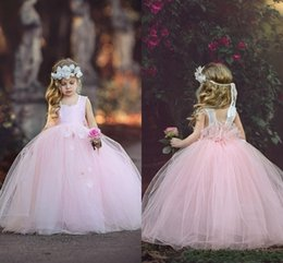 Shop ivory tutu flower girl dresses uk ivory tutu flower girl 2019 new tutu flower girls dresses for wedding square pink tulle ball gown princess floor length girls pageant birthday communion party gown mightylinksfo