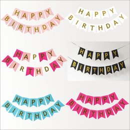 string for kids UK - birthday party decorations Happy Birthday letter Banners Flags String Bunting Pennant Home Decor flag for kids children baby