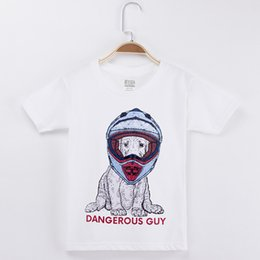 tee baby Canada - 2018 New Casual Kids Clothes Children T-shirt Dog Dangerous Guy Print 100% Cotton Boys T Shirts Baby Girl Tops Tees Camiseta