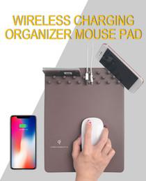Qi Wireless Ladegerät Lade Halter Mauspad Mat Herrscher für iPhone X Samsung Telefon Neue Computer Mauspad Mat Tisch Gaming Mousepad