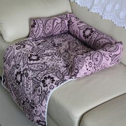 Discount pet house beds - dog beds for large dogs cotton Mat Pet Car Seat Cover Cat Pet Kennels Washable Nest House Pet Supplies Puppy Beds House
