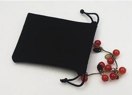 Sacos de cor de veludo Puro cor preta mulher saco de cordão do vintage para o Presente diy Saco de Embalagem de Jóias artesanais venda por atacado