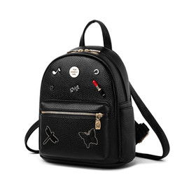 $enCountryForm.capitalKeyWord Australia - New Brand 2018 Lipstick Women Backpacks Embroidery Big School Bags For Girls Pu Leather Fashion Women Bag Daypack