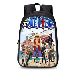 ee72507444b Japanese Anime One Piece Backpack FNNA UT Ace Zoro Sanji Luffy Women Men  Boys Girls traktatie School Bags Laptop Bolsa