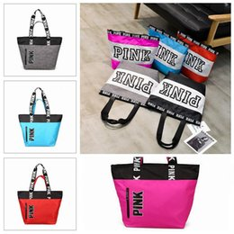 0c25780c06 9 Colors Pink Letter Handbags Women Shoulder Bags Love Pink Waterproof  Shopping Bag Handbag Secret Travel Duffle Bags CCA8953 12pcs