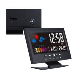 VBESTLIFE Smart Home Multifonction Intérieur LCD Numérique Température Humidité Horloge Météo Vioce-activé Alarme Module Intelligent en Solde