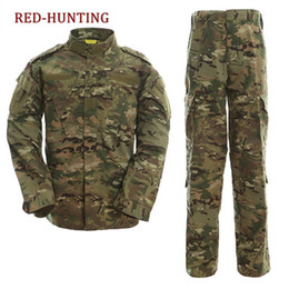 China New Desert & Jungle Outdoor Camouflage Uniform Tactical Uniform Combat Hunting Suit BDU Training Jacket and Pant cheap hunting camouflage jacket suppliers