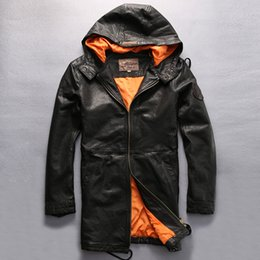 fb4abfa25 Avirex leAther jAckets online shopping - 2017 New men s Avirex fly hooded leather  jacket men