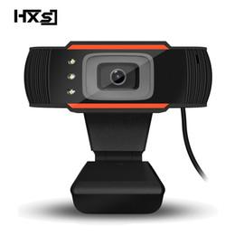 Видеокамера HXSJ 3LED HD Webcam 480P с поглощением Микрофон MIC для Skype для Android TV Вращающаяся компьютерная камера USB Веб-камера
