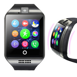 ingrosso vigilanza intelligente del bluetooth sim-Q18 Smart Watch Bluetooth orologi Android con fotocamera M Smartwatch per android telefono ios Micro SIM Carta di TF Uomini Sport