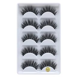 50c21c9511a 5 Styles Handmade 3D Mink False Eyelashes Cross Natural Eye Lashes Stage  Makeup False Eyelashes F810-F850