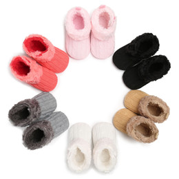 China Newborn baby girl soft bottom knitted snow boots baby child bed cotton shoes 0-18M suppliers