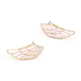 $enCountryForm.capitalKeyWord UK - Korea Temperament Fashion Sweet Feather Wing Personality Ear Nail Earrings Woman