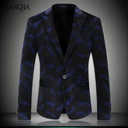 $enCountryForm.capitalKeyWord Australia - Stylish Mens Velvet Blazers 2017 Printing Pattern Slim Fit Suit Plus Size Tide Youth Leisure Party Wear Mens Stage Clothes M-4XL