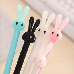 $enCountryForm.capitalKeyWord Australia - 0.5mm Cute Kawaii Plastic Gel Pen Cartoon Rabbit Pen Lovely Neutral Pens For Writing Kids Gift Korean Stationery School Supplies
