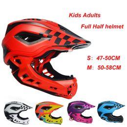 $enCountryForm.capitalKeyWord NZ - 2-10 Years Old Full Face Kids Helmet with LED light Full Covered Balance Bike Helmet Motocross Downhill MTV DH Safety BMX