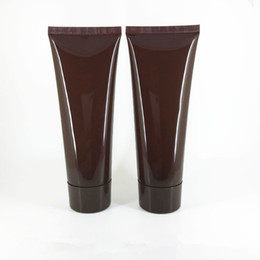 Discount soft care - 100MLX50pc brown Empty Soft Tube For Cosmetic Packaging 100G Lotion Cream Plastic Bottle Skin Care Cream squeeze Contain