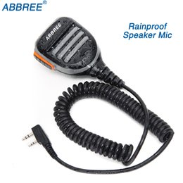 Uv 5r Mic Australia - ABBREE 2 Pin PTT Remote Waterproof Shoulder Speaker Mic Handheld Microphone for  TYT Baofeng UV-5R 888S Walkie Talkie