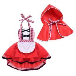 Girls Cotton Poncho Wholesale Australia - Vieeoease Girls Sets Christmas Baby Clothing 2018 Autumn Shoulder-straps Lace Tutu Dress + Poncho Children Outfits 2 pcs EE-1102