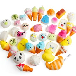 Toy mobiles online shopping - 30Pcs set Fidget PU Bread Cake toys Squishy Slow rebound squishy Simulation Fruits Funny Gadget Vent Decompression toy Mobile Pendant B