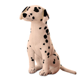 Dorimytrader Giant Stuffed Soft Simulation Animal Dalmatians Dog Plush Animals Dogs Toy Great Kids Gift 35inch 90cm Dy60302