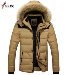 Hooded Winter Parkas For Men NZ - 2018 New Brand Clothing Men's Winter Parkas Long Style Casual Loose Fit Hooded Jacker For Warm Winter Jacket Men Padded