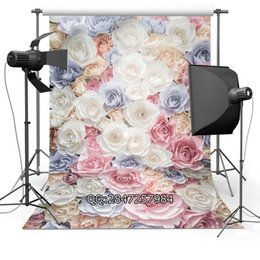 Background Prints Australia - Thin fabric cloth Printed photography background flower backdrop F-2426 flower backdrop printed photography background