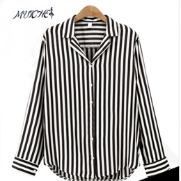 Discount striped shirts for women - MUICHES 2017 New Spring Autumn Women Blouse Flower V-Neck Long Sleeve Work Shirts Women office Tops Striped blouse for b