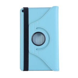 Litchi foLio cover case online shopping - Case For Huawei MediaPad T3 Rotation Degree Rotating Litchi Cover KOB L09 KOB W09 Honor Play Pad Pen