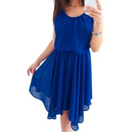 d166670a0b3e New Boho Chiffon Dress 2018 Summer Beach Sundress Fashion O-Neck Sleeveless  Pleated Party Dresses Women Clothing Sexy XXL